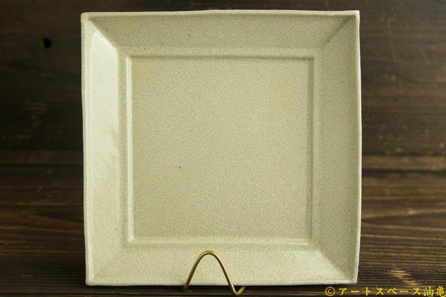画像1: 林拓児「貫入 正角皿」