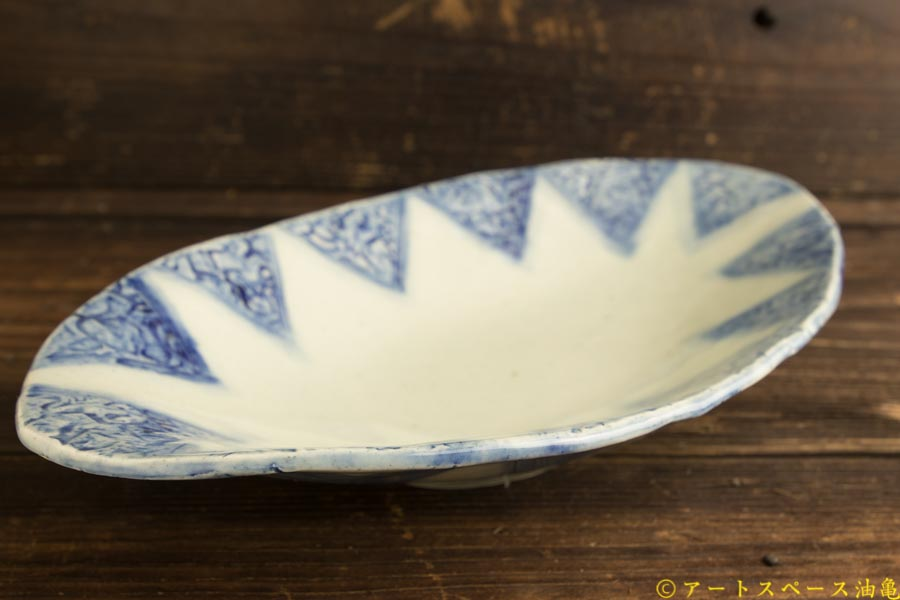 画像3: 肥後博己「印花紋染付楕円皿」