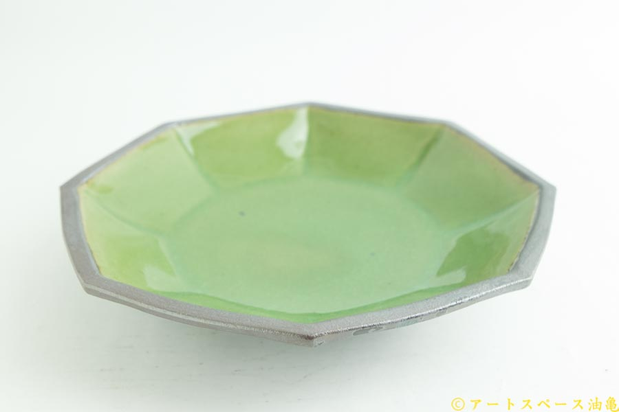 画像2: 遠山貴弘「八角深鉢 グリーン」