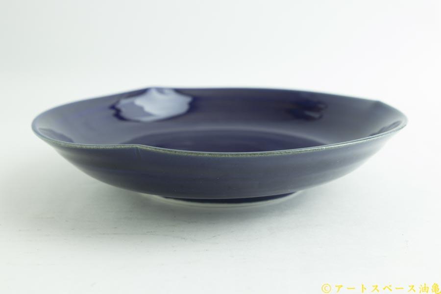画像3: 柳川謙治「瑠璃 花七寸皿」