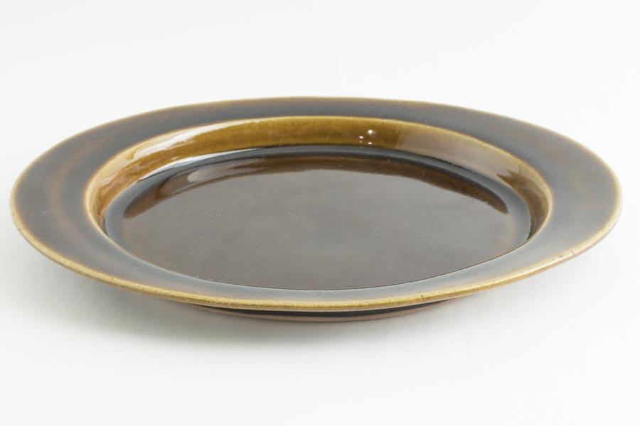 画像2: 平沢崇義「飴釉 オーバルリム皿」