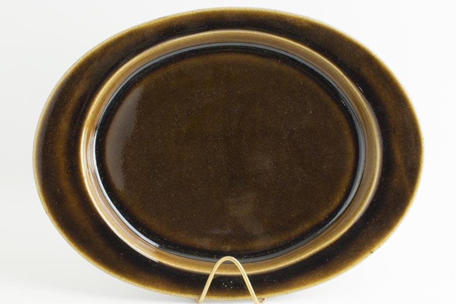 画像1: 平沢崇義「飴釉 オーバルリム皿」