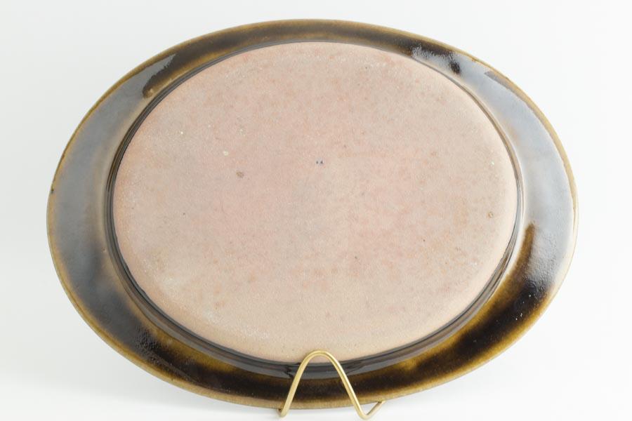 画像4: 平沢崇義「飴釉 オーバルリム皿」