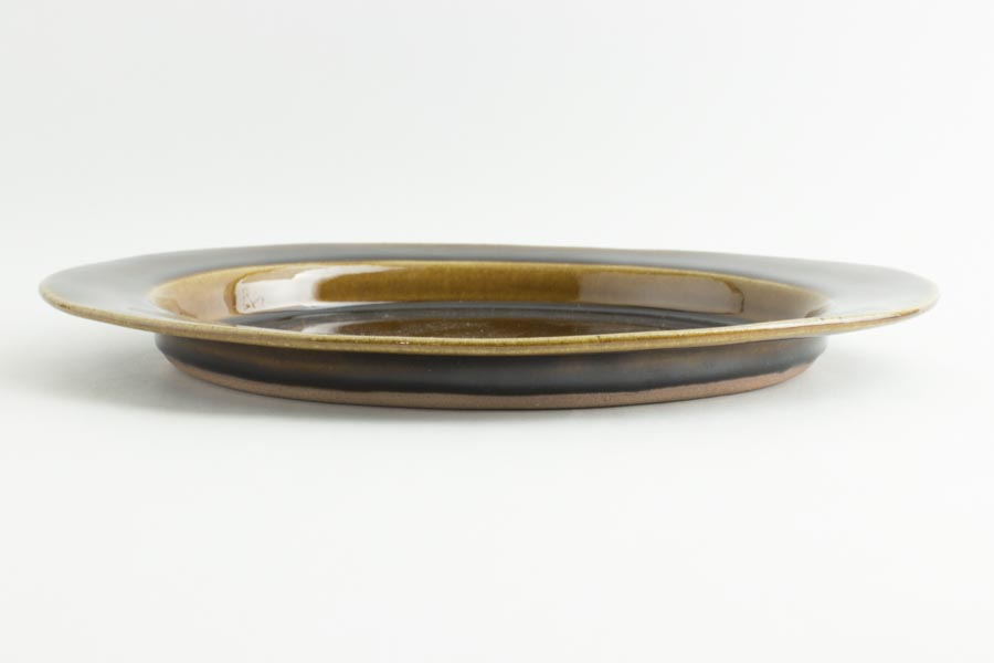 画像3: 平沢崇義「飴釉 オーバルリム皿」
