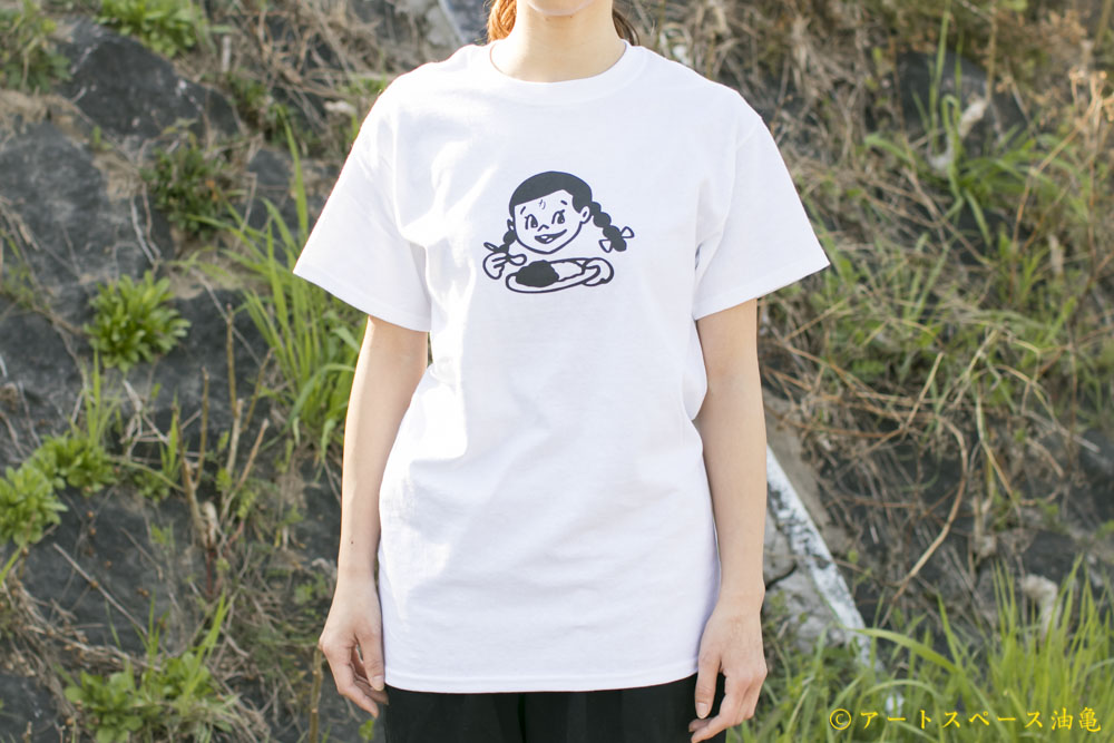 画像1: カレーちゃん家 カレー大好きガールTee(WHITE)【レターパック対応商品】