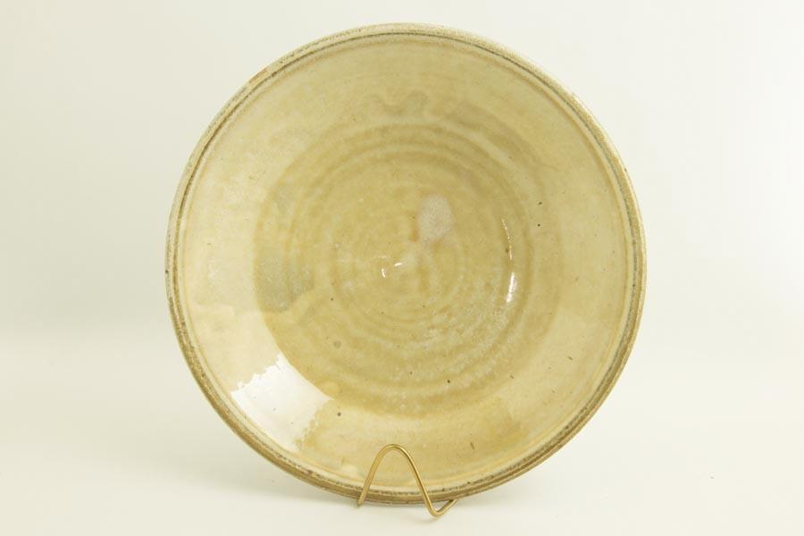 画像2: 八木橋昇「黄化粧 掛け分け 玉縁8寸浅鉢」