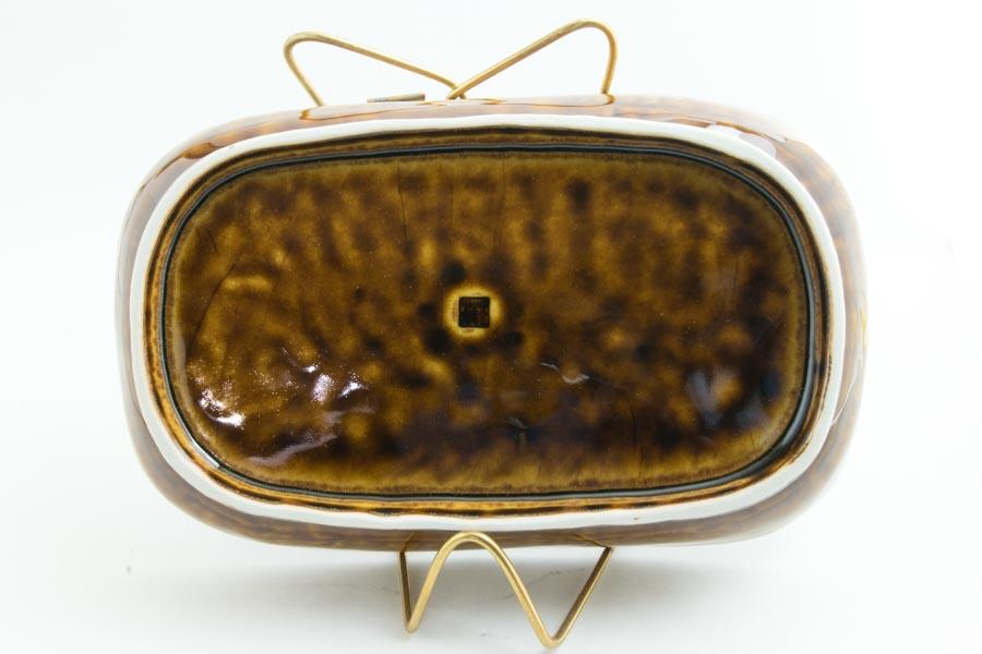 画像5: 柳川謙治「飴釉 陽刻楕円鉢」