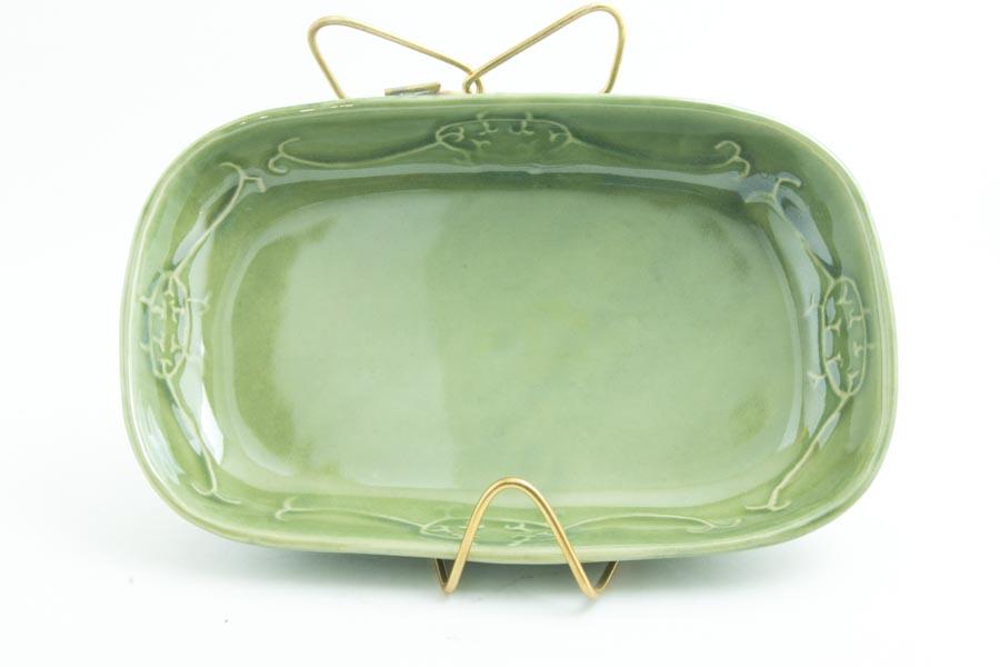 画像4: 柳川謙治「織部 陽刻楕円鉢」