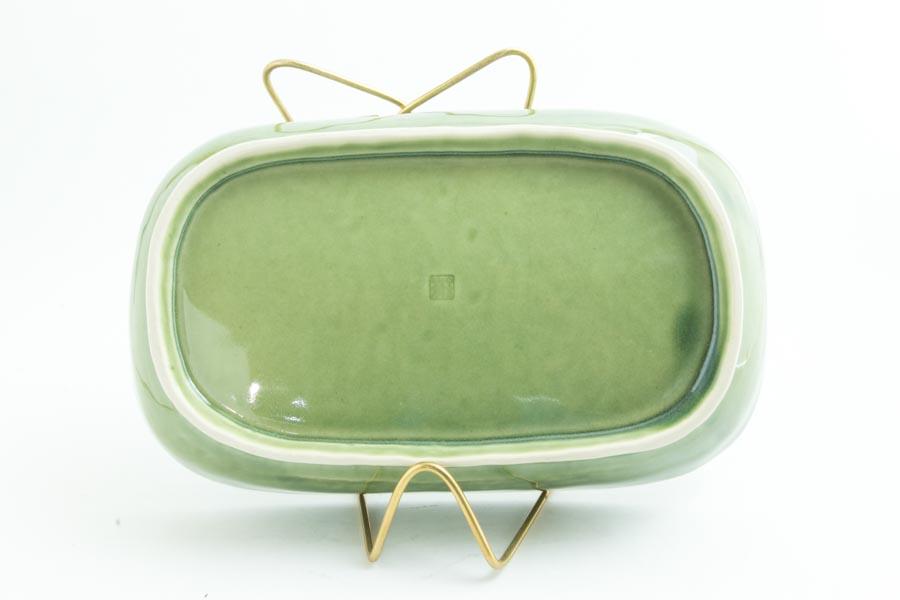 画像5: 柳川謙治「織部 陽刻楕円鉢」