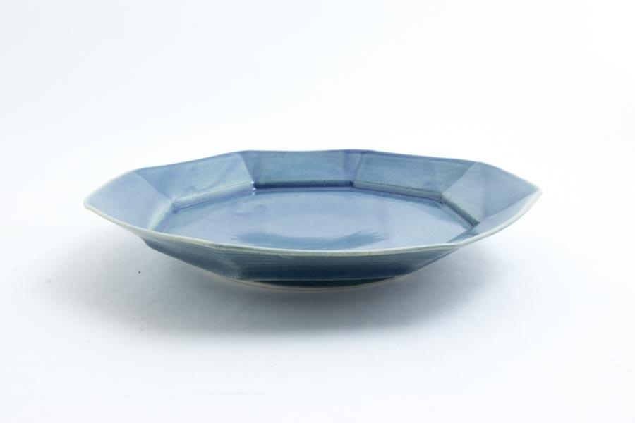 画像3: 柳川謙治「薄瑠璃 八角七寸皿」