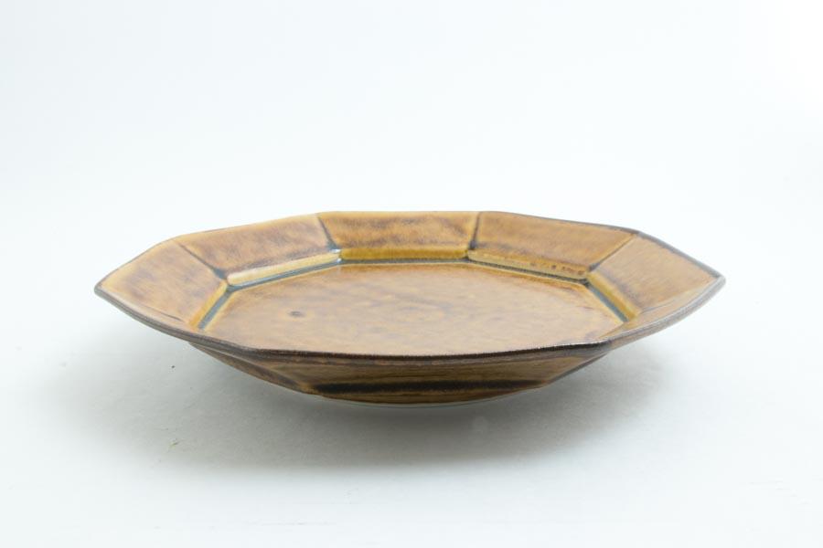 画像3: 柳川謙治「飴釉 八角七寸皿」