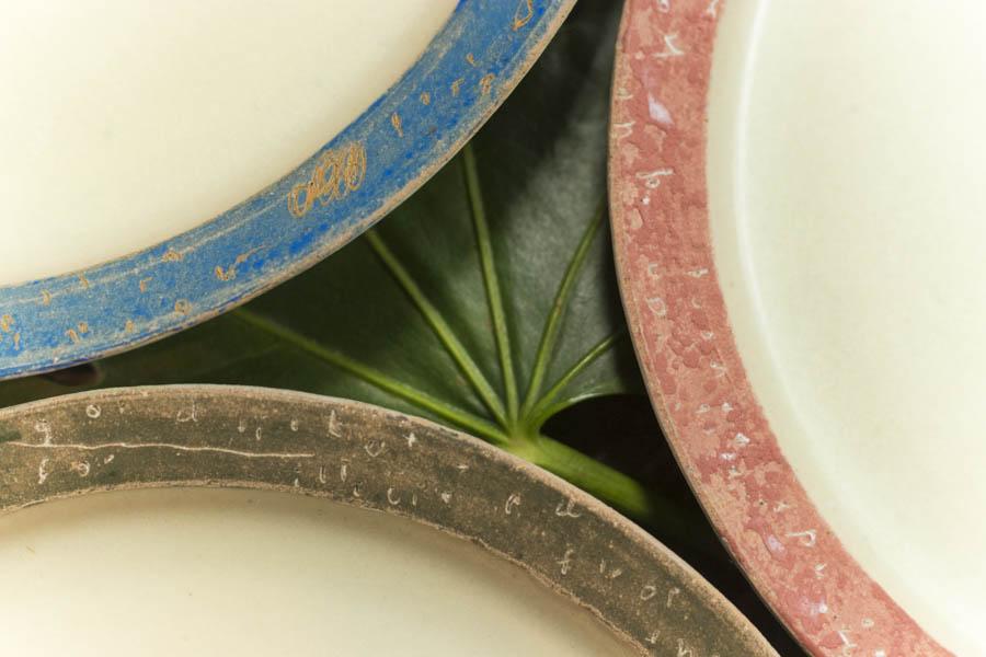 画像4: 矢尾板克則「色絵リム皿」