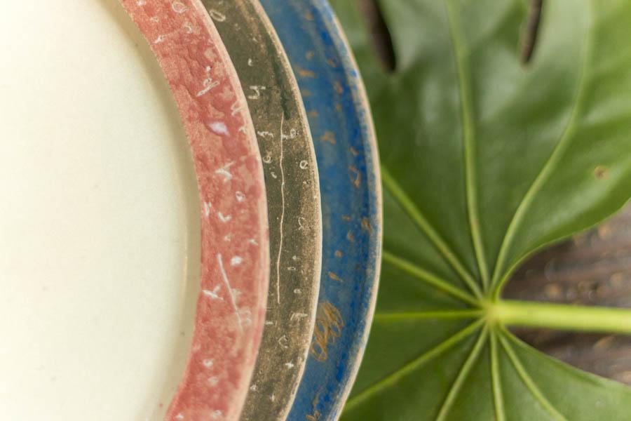 画像3: 矢尾板克則「色絵リム皿」