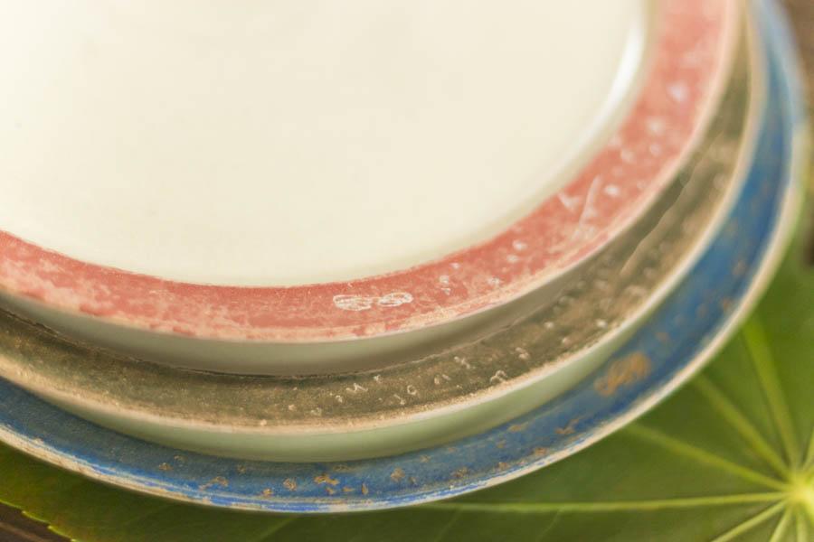 画像2: 矢尾板克則「色絵リム皿」