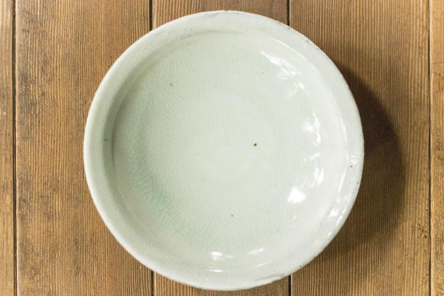 画像1: 八田亨「青粉引 7寸リム皿」