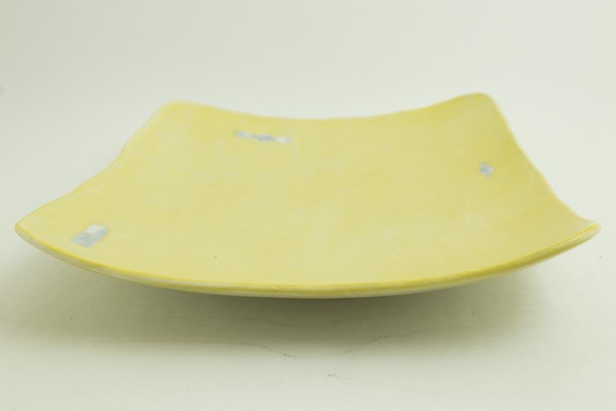 画像3: 矢尾板克則「色絵皿(角)黄」