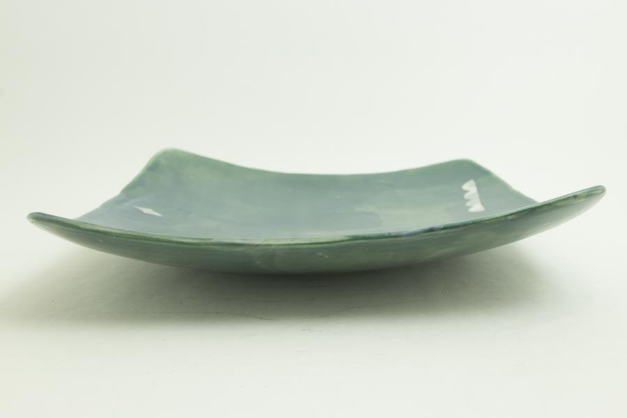 画像5: 矢尾板克則「色絵皿(角)青」