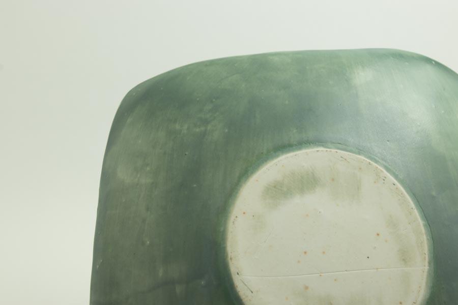 画像4: 矢尾板克則「色絵皿(角)青」
