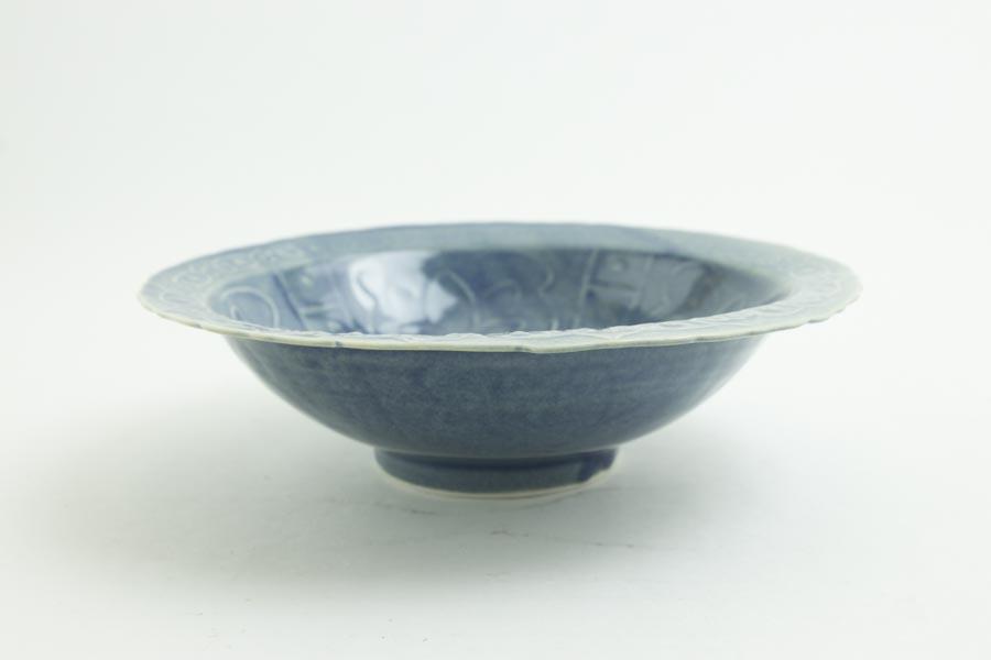 画像3: 柳川謙治「薄瑠璃 如意頭丈 五寸鉢」