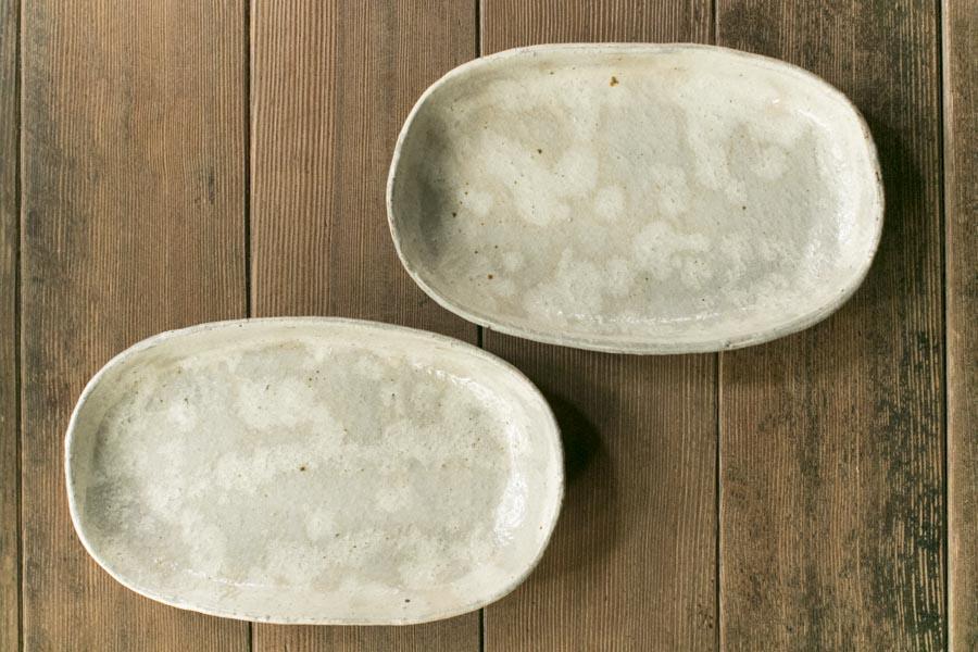 画像1: 工藤和彦「白樺ホワイト 楕円平皿」