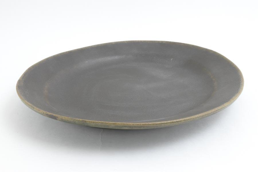画像2: 古谷浩一「サビ釉 ダ円リム皿 大」