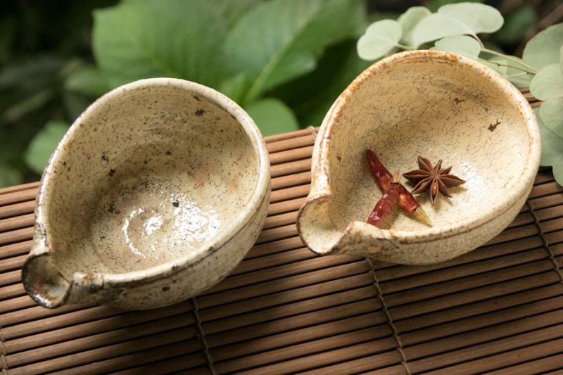 画像1: 工藤和彦  黃粉引 片口小鉢