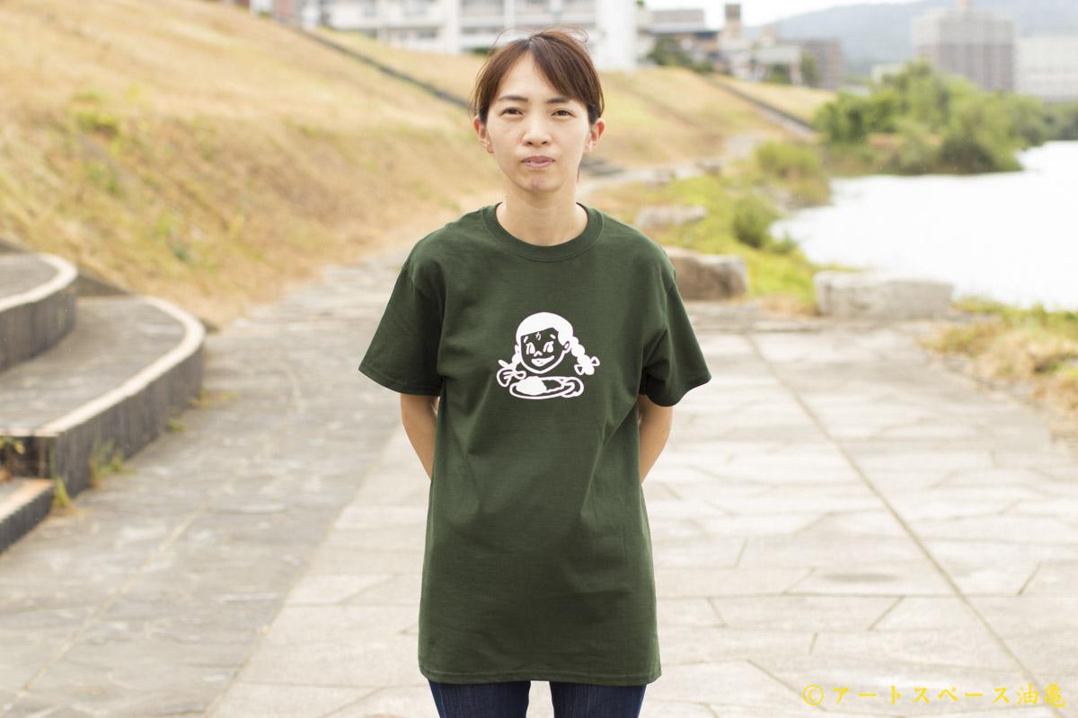 画像1: カレーちゃん家 カレー大好きガールTee(KHAKI)【レターパック対応商品】