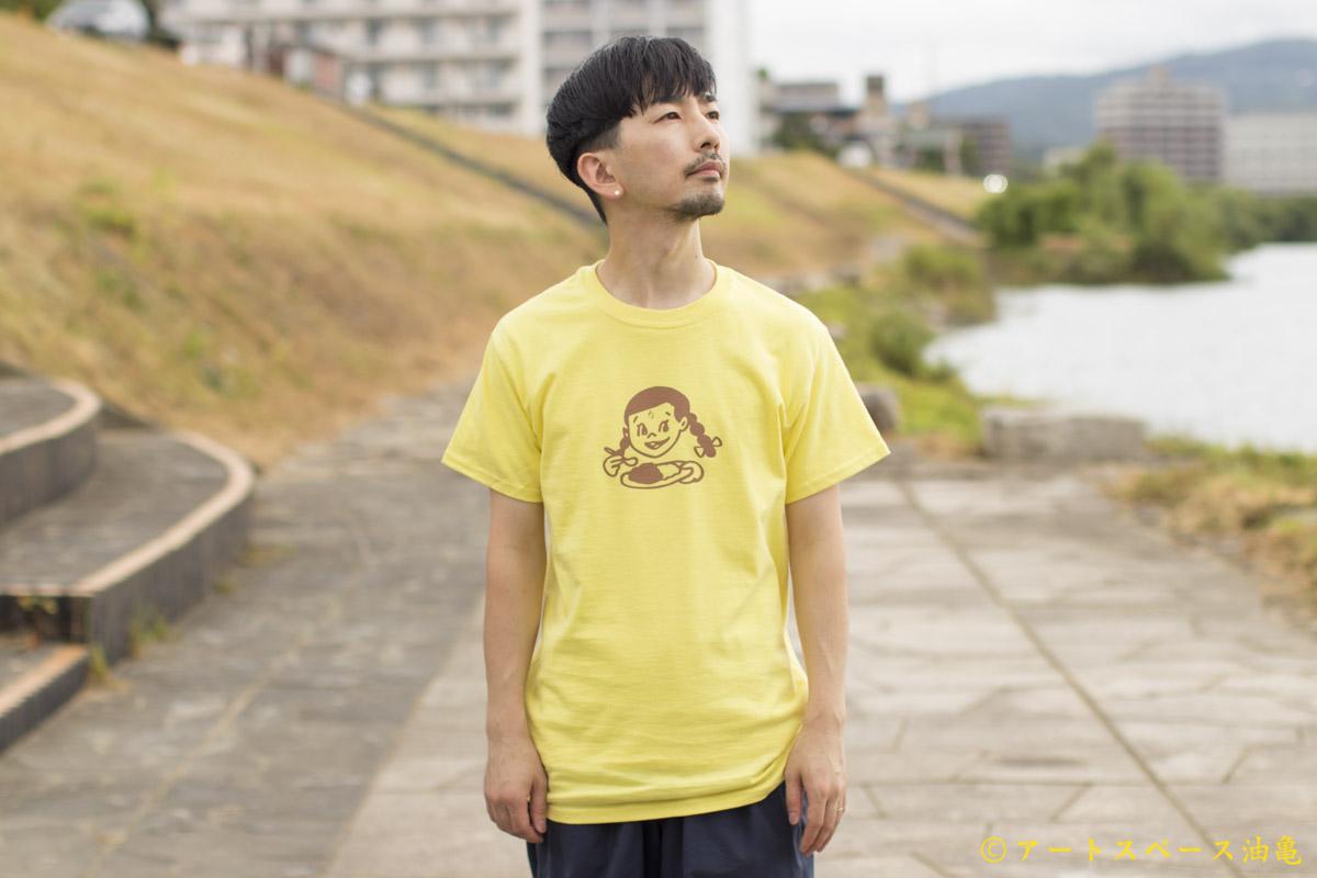 画像1: カレーちゃん家 カレー大好きガールTee(YELLOW)【レターパック対応商品】