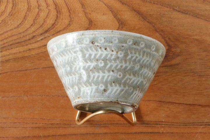 画像1: 江口誠基「三島骨模様カップ型小鉢」