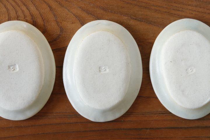 画像3: 江口香澄「白だ円小皿」【アソート作品】