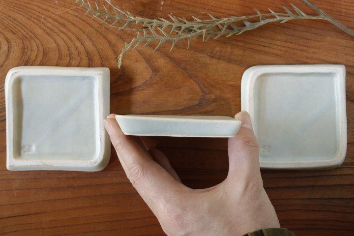 画像2: 江口香澄「白石畳豆皿」【アソート作品】
