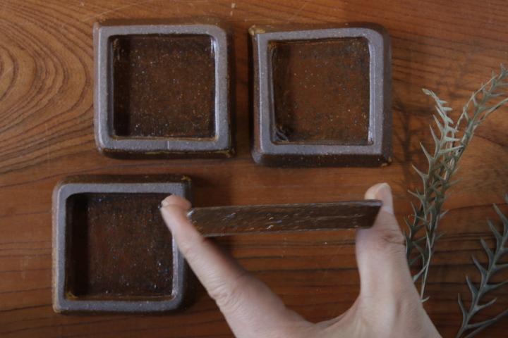 画像2: 江口香澄「アフリカ彫刻 石畳豆皿」