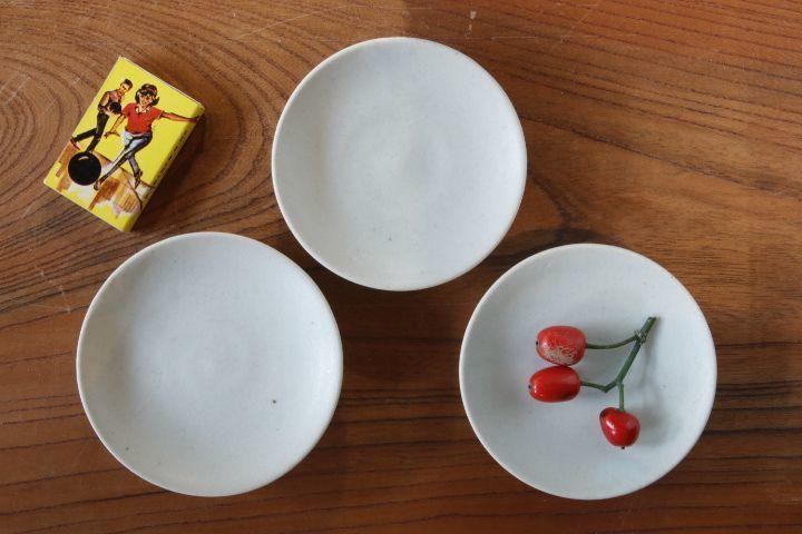 画像1: 江口香澄「白 シンプルな豆皿」【アソート作品】