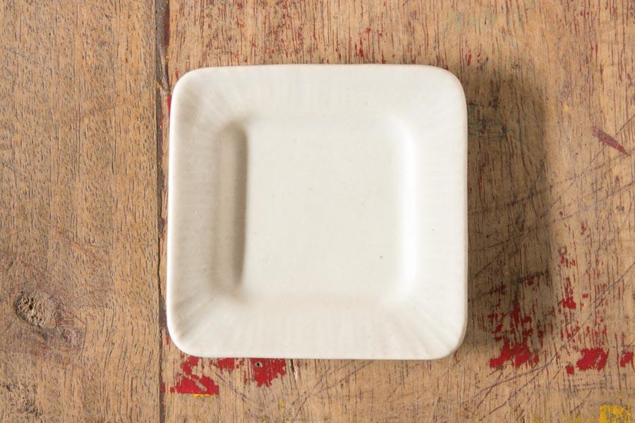 画像1: 江口香澄「白四角平皿」