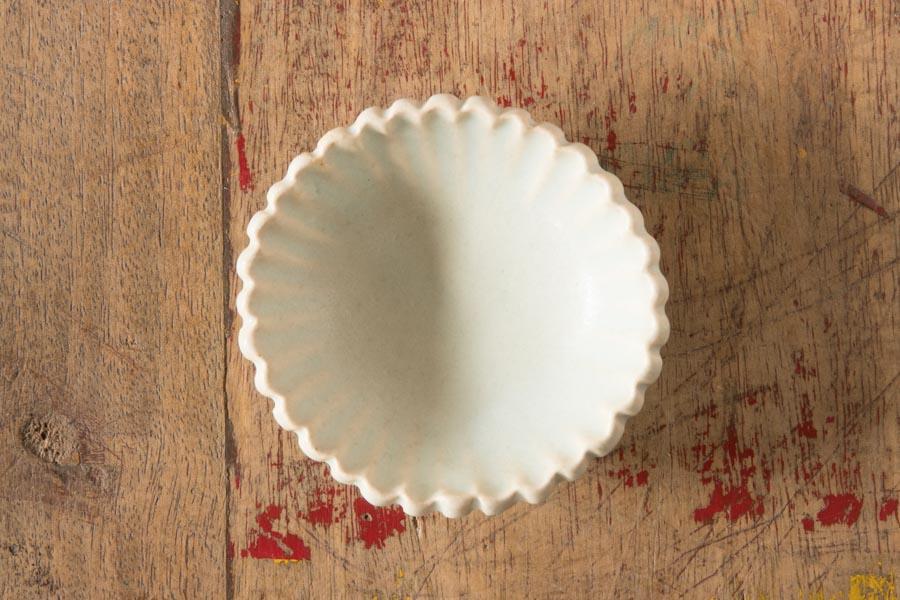 画像1: 江口香澄「白花型 ミニ小鉢」