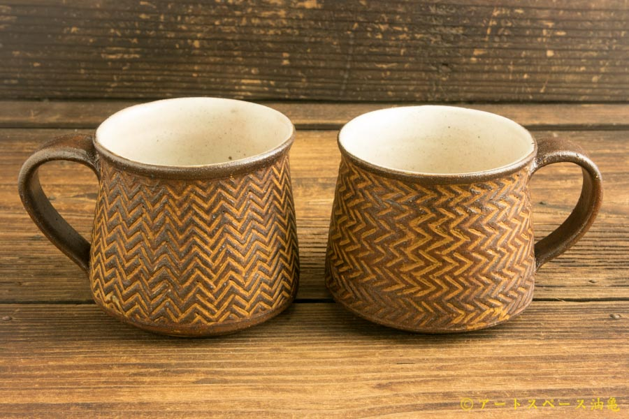 画像1: 江口香澄「アフリカ彫刻 マグカップ」