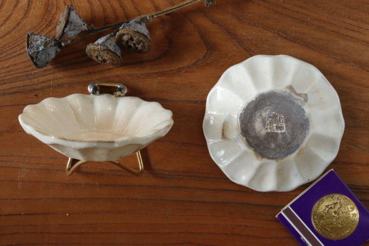 画像2: 古谷浩一「粉引 輪花深皿 豆」