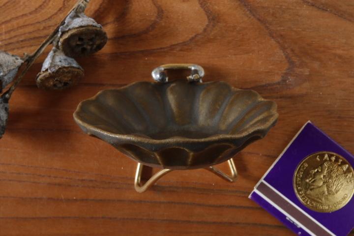 画像2: 古谷浩一「サビ釉 輪花深皿 豆」