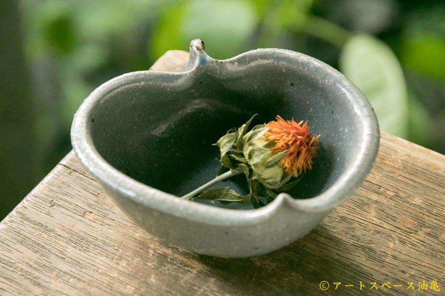 画像1: 古谷浩一「グレー釉 りんご鉢 ミニ」