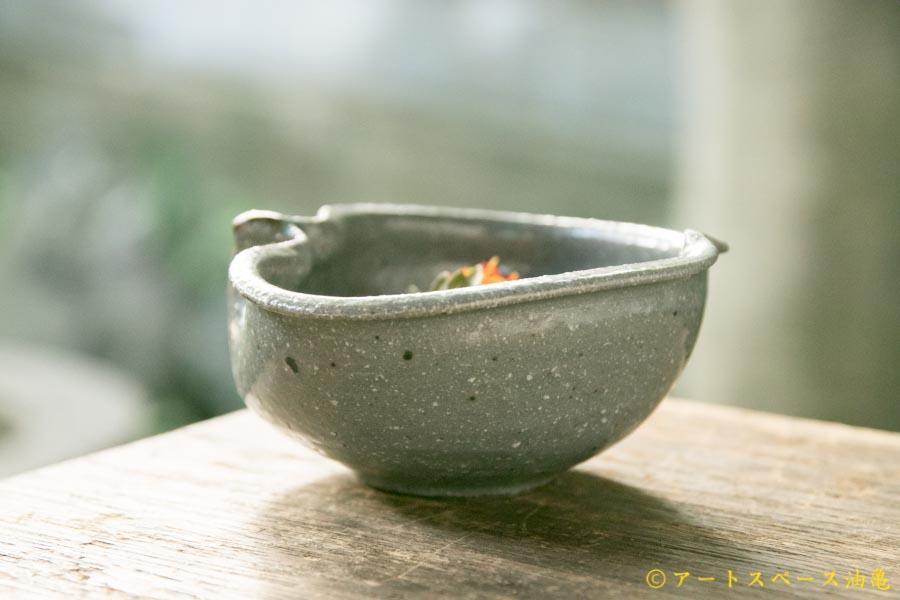 画像3: 古谷浩一「グレー釉 りんご鉢 ミニ」