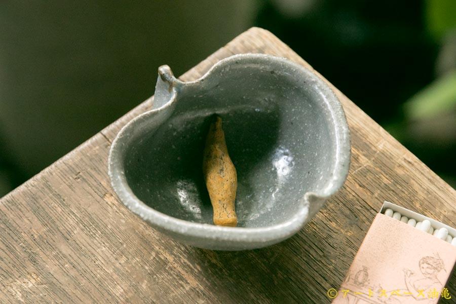画像1: 古谷浩一「グレー釉 ひめりんご鉢」