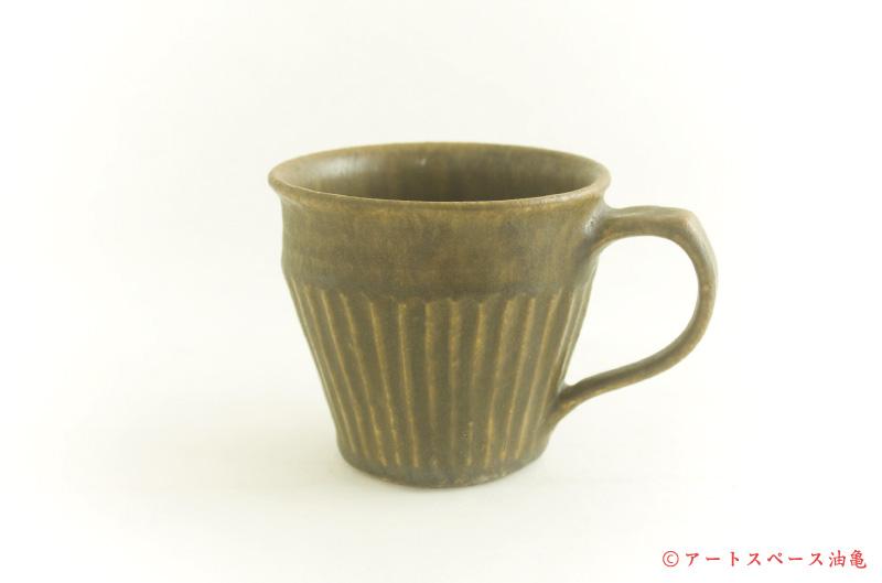 画像2: 古谷浩一「錆釉 しのぎマグカップ」#125