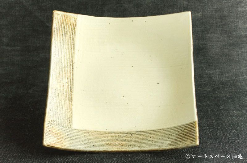 画像1: 古谷浩一 「L彫 7寸四方深皿」#143
