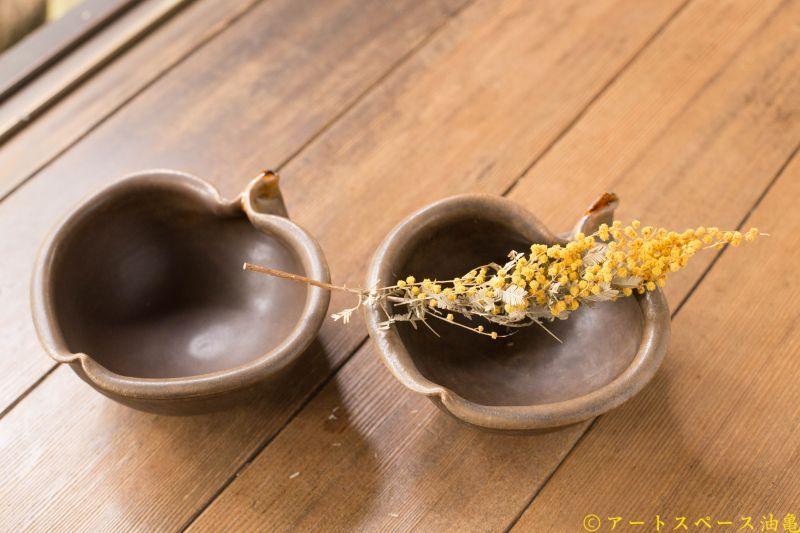画像2: 古谷浩一 「サビ釉 りんご小鉢」