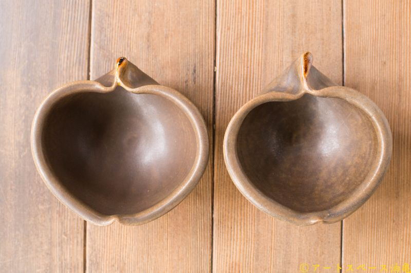画像1: 古谷浩一 「サビ釉 りんご小鉢」