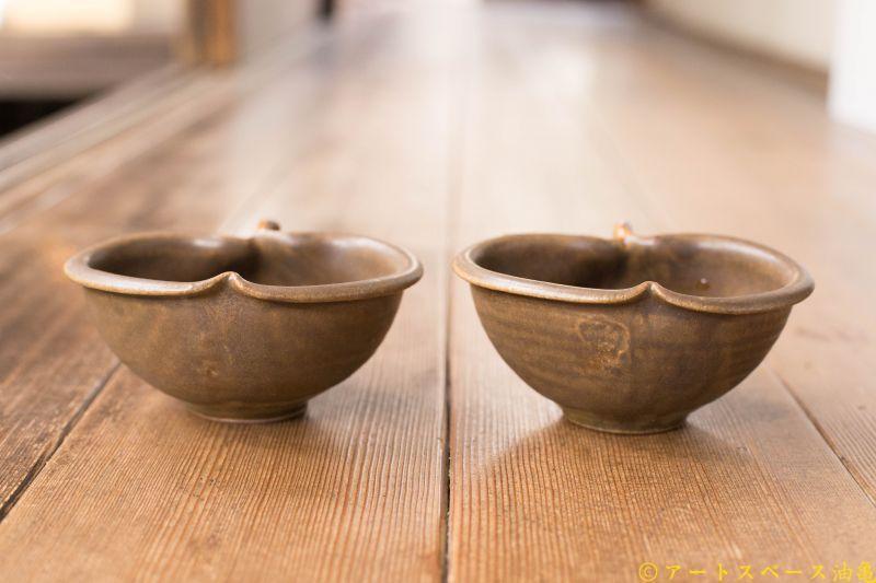 画像3: 古谷浩一「サビ釉 りんご鉢 ミニ」