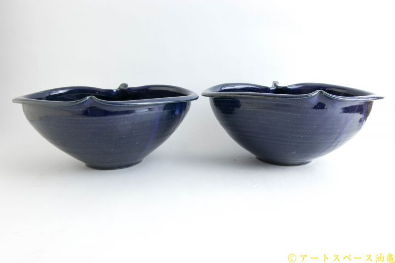 画像3: 古谷浩一「ルリ釉 りんご鉢 中」