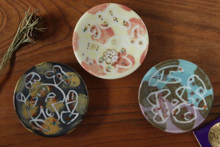 画像1: 浜坂尚子「ろくろ豆皿」