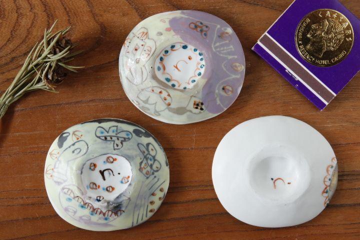 画像2: 浜坂尚子「色絵豆皿」