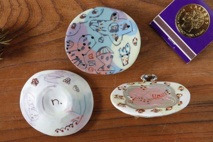画像3: 浜坂尚子「色絵豆皿」